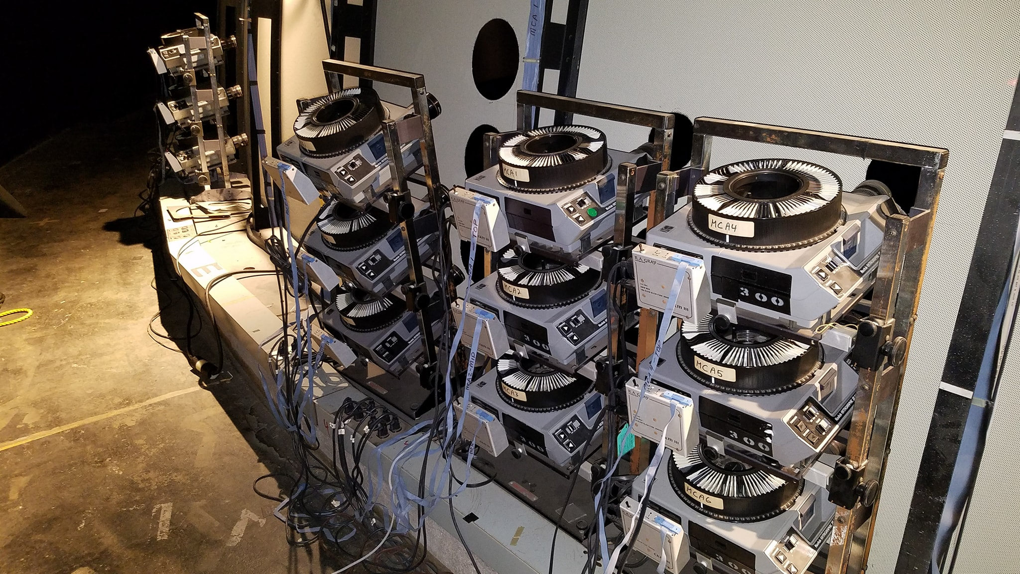 Kodak slide projectors in Planetarium